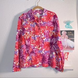 Coldwater Creek button up beautiful pink jacket